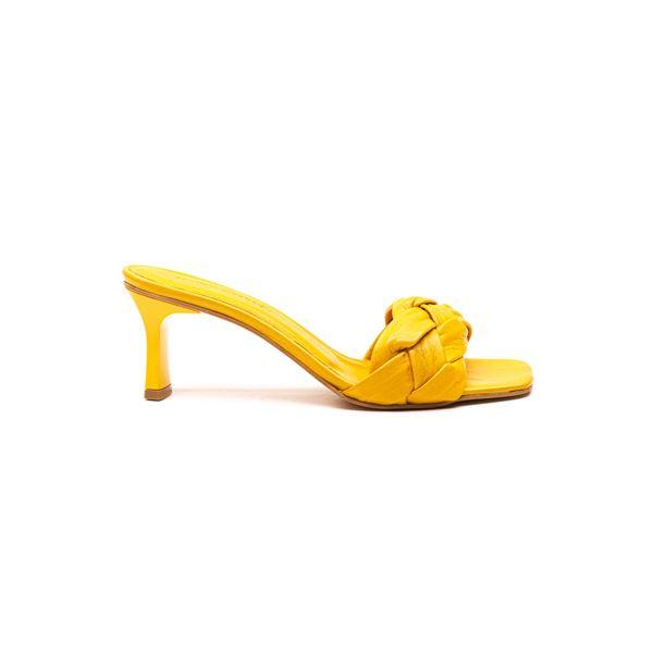Evarado Kadın Deri Terlik Sarı