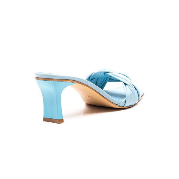 Evarado Kadın Deri Terlik Mavi