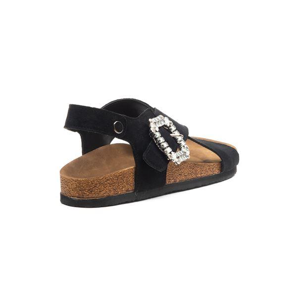 Elisa Kadın Sandalet Siyah Süet