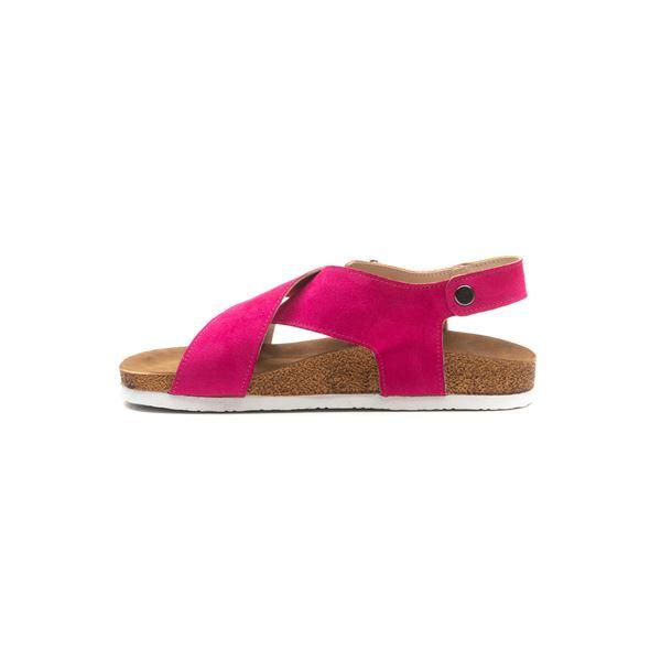 Elisa Kadın Sandalet Fuşya Süet
