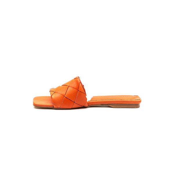 Agustin Kadın Deri Terlik Oranj
