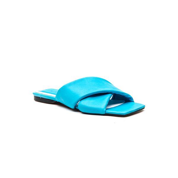 Andriano Kadın Deri Terlik Mavi