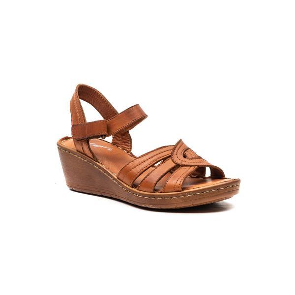 Sancha Kadın Deri Sandalet Taba