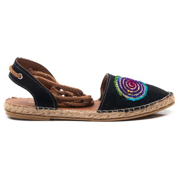 Camila  Kadın Ayakkabı Siyah Süet