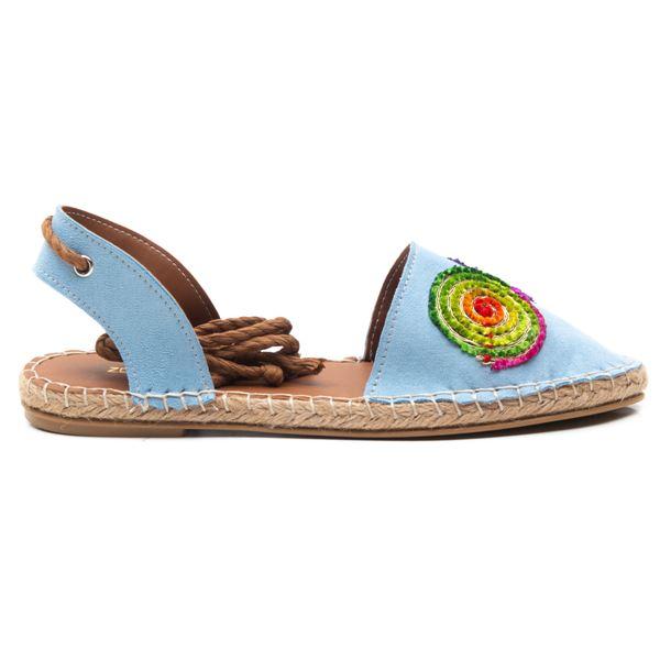 Camila  Kadın Ayakkabı Mavi Süet