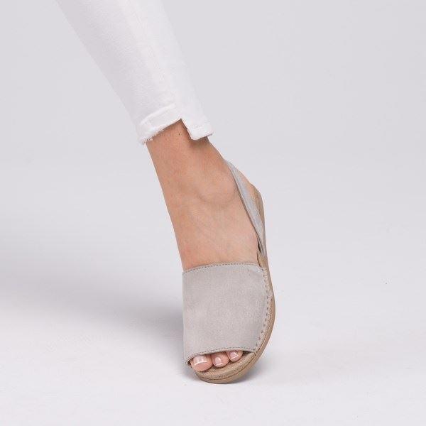 Alanzo Sandalet Buz Beyaz Süet