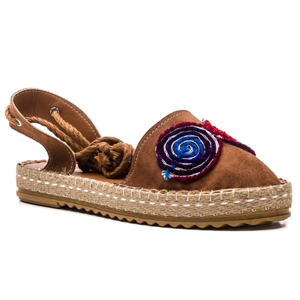 Esta Kadın Ayakkabı Taba Süet