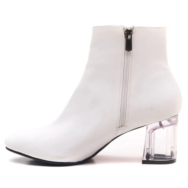 Ellinor Kadın Bot Beyaz Şeffaf Taban