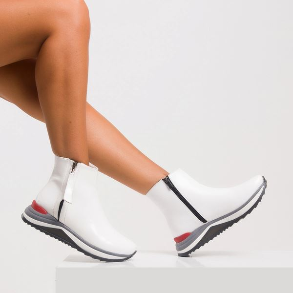 Dante Kadın Spor Bot Beyaz Rugan