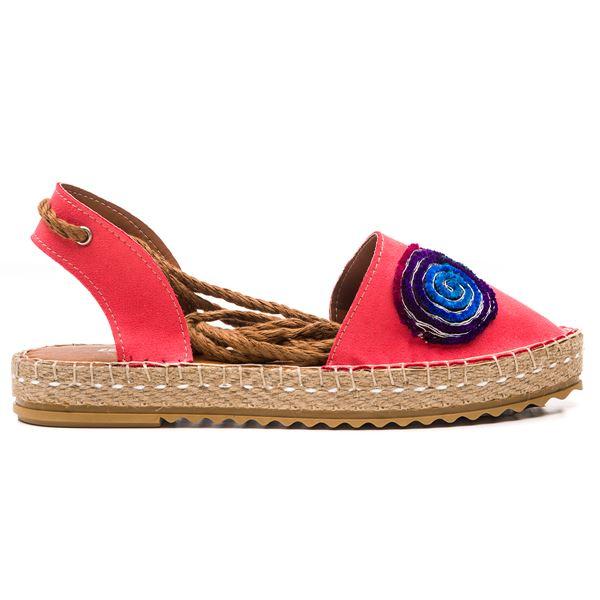 Esta Kadın Ayakkabı Nar Çiçeği Süet