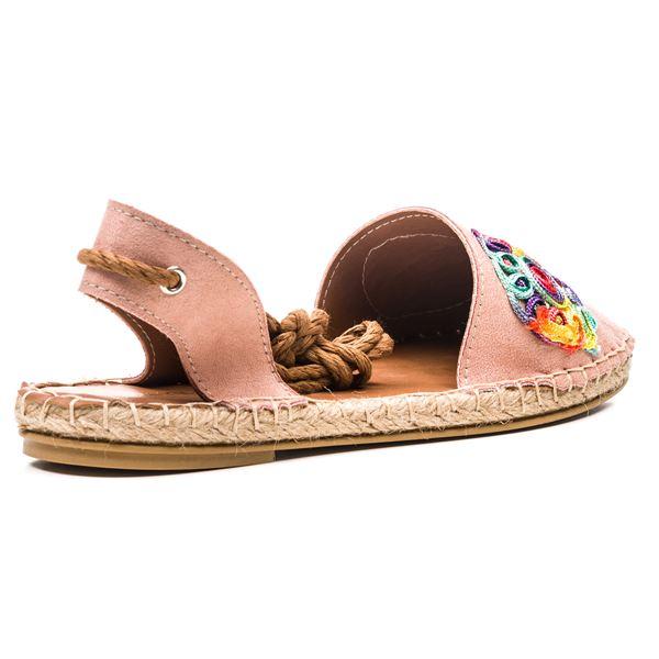 Fabio Kadın Ayakkabı Pudra Süet