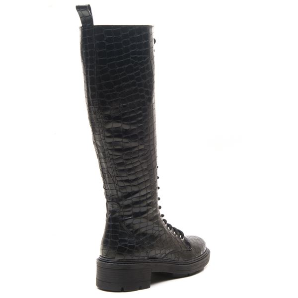 Alandra Kadın postal siyah kroko