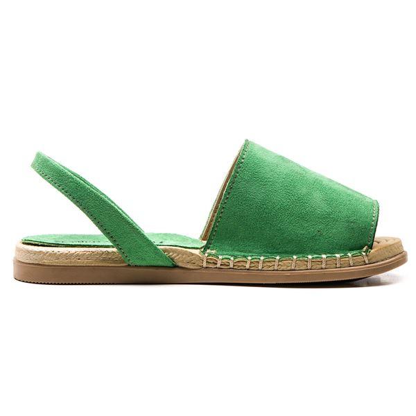 Alanzo Sandalet Yeşil Süet