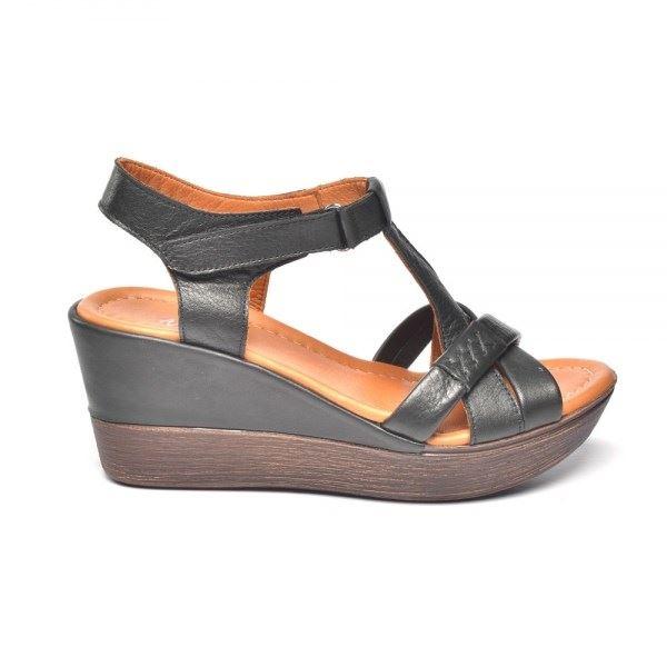 Daniele Deri Sandalet Siyah
