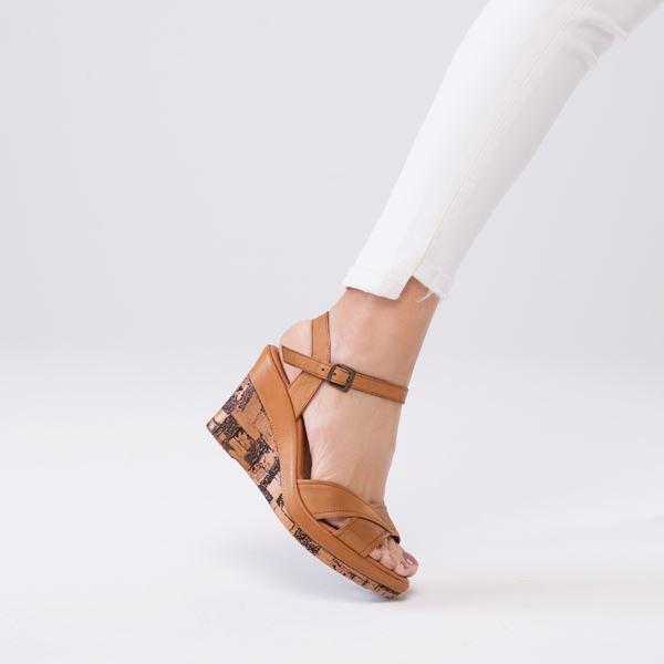 Riccarda Ortopedik Sandalet Taba