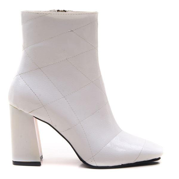 Azurine Kadın Bot Beyaz rugan