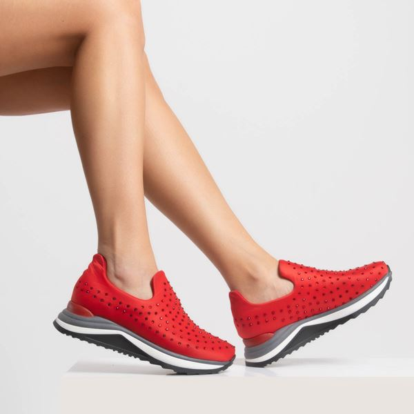 Berthe Kadın Ayakkabı Kırmızı Dalgıç