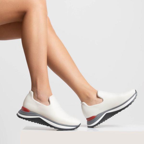 Bert Kadın Ayakkabı Beyaz Dalgıç