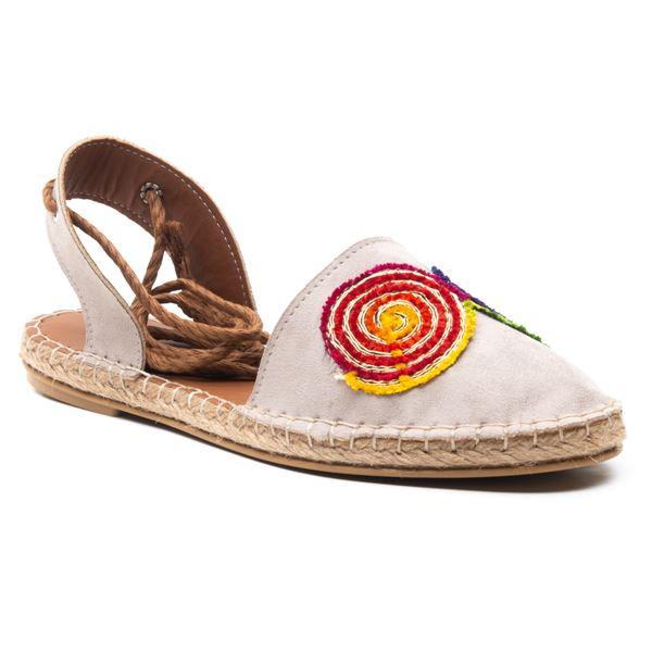 Camila  Kadın Ayakkabı Bej Süet