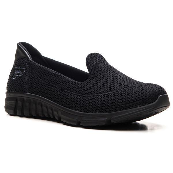 Tino Kadın Spor Ayakkabı Siyah Tekstil-Siyah Taban