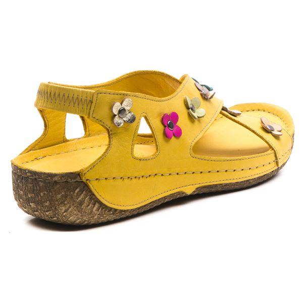 Alanis Kadın Deri Sandalet Sarı