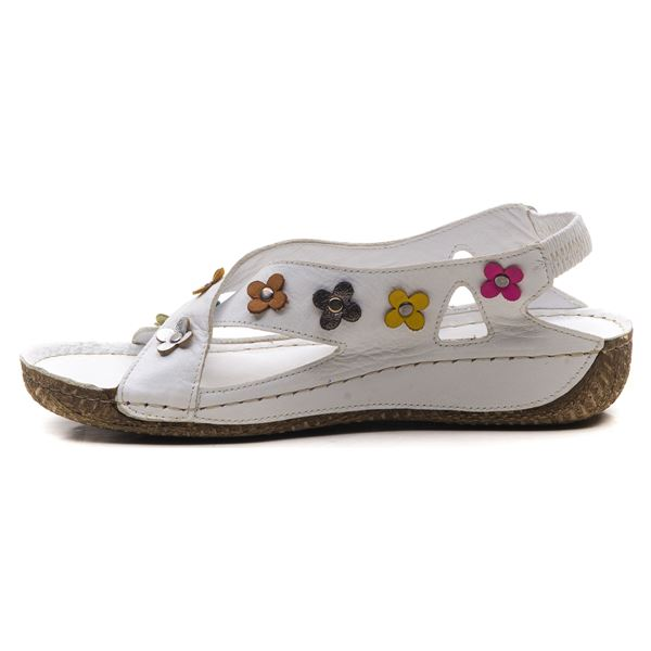 Alanis Kadın Deri Sandalet Beyaz