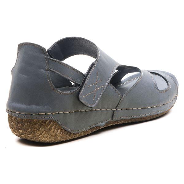 Alanna Kadın Deri Sandalet Gri