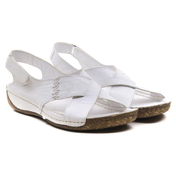 Alina Kadın Deri Sandalet Beyaz