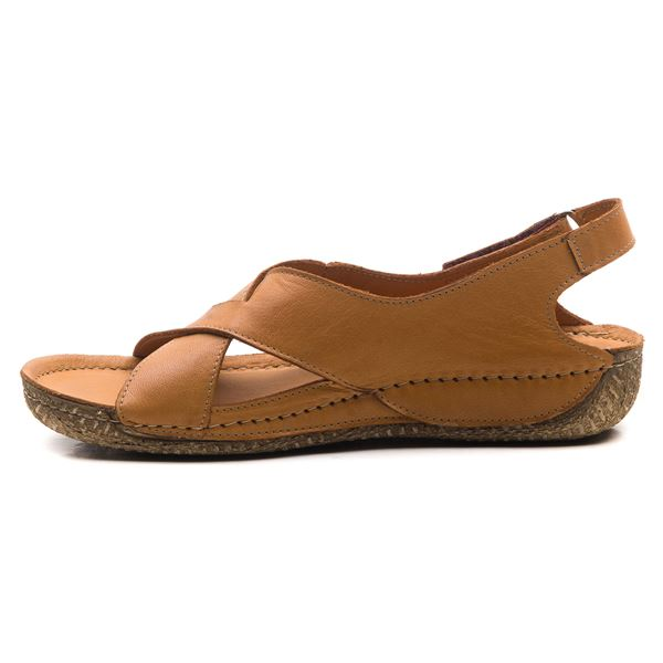 Alina Kadın Deri Sandalet Taba