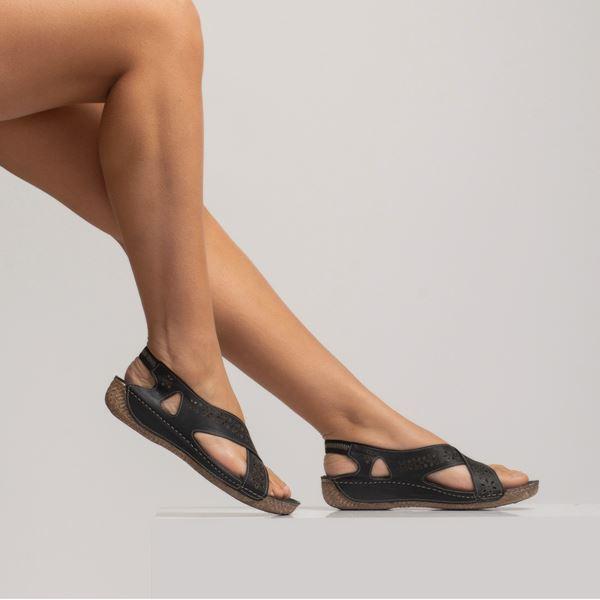 Adriel Kadın Deri Sandalet Siyah