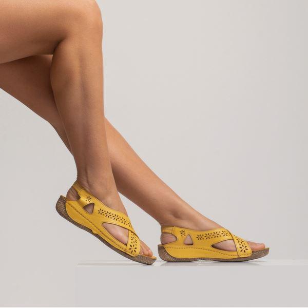 Adriel Kadın Deri Sandalet Sarı
