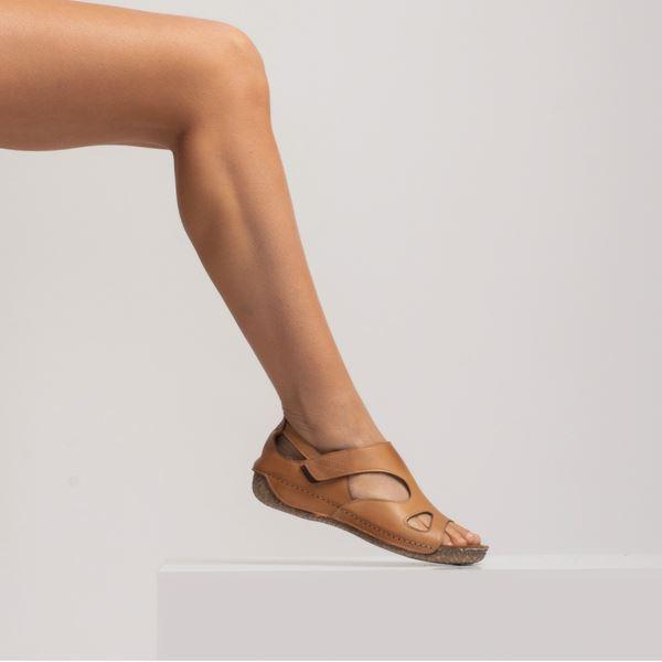 Alanna Kadın Deri Sandalet Taba