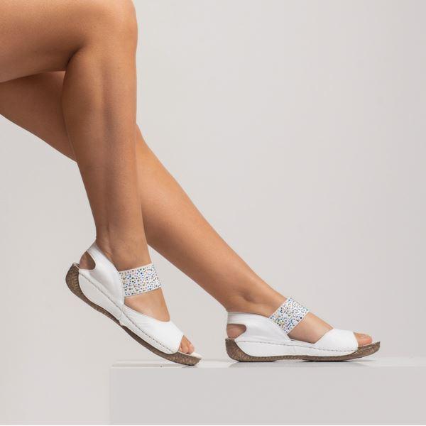 Avery Kadın Deri Sandalet Beyaz