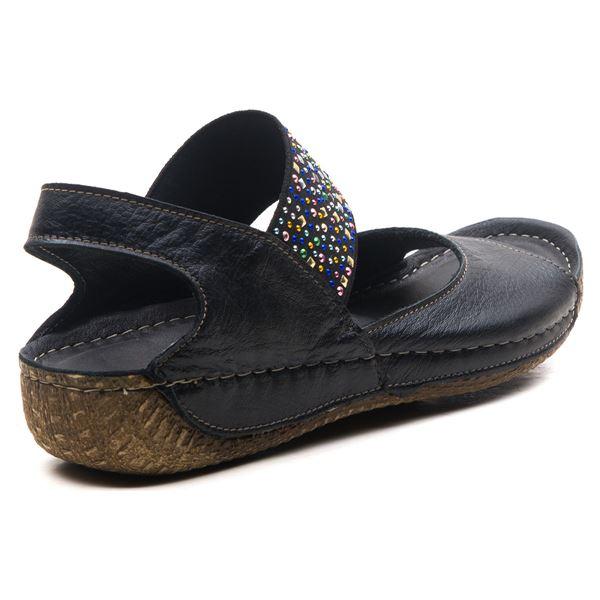 Avery Kadın Deri Sandalet Siyah