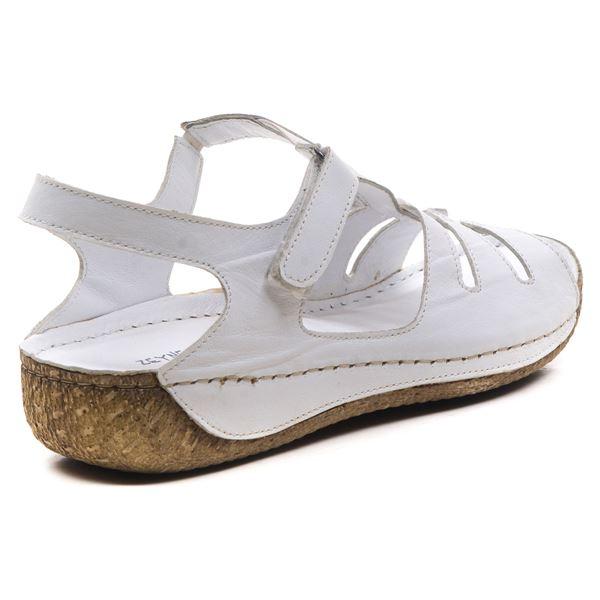 Angelo Kadın Deri Sandalet Beyaz