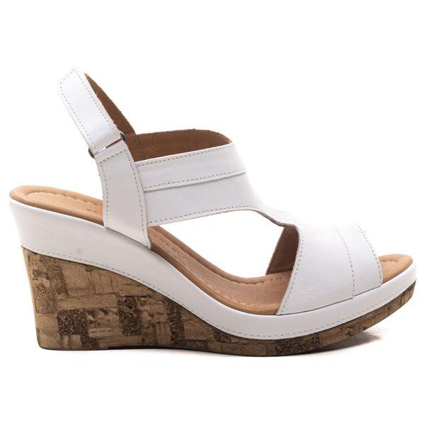 Aditya Kadın Dolgu Topuk Sandalet Beyaz