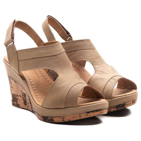 Aditya Kadın Dolgu Topuk Sandalet Kum