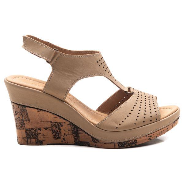Anissa Kadın Dolgu Topuk Sandalet Kum