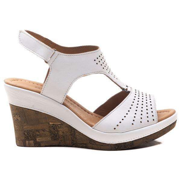Anissa Kadın Dolgu Topuk Sandalet Beyaz