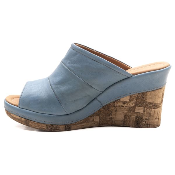 Aryanna Kadın Dolgu Topuk Sandalet Mavi