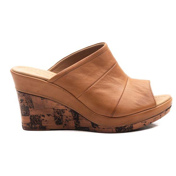 Aryanna Kadın Dolgu Topuk Sandalet Taba