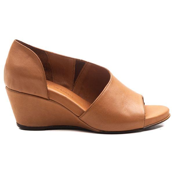 Anjali Kadın Dolgu Topuk Sandalet Taba