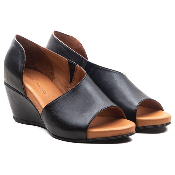 Anjali Kadın Dolgu Topuk Sandalet Siyah