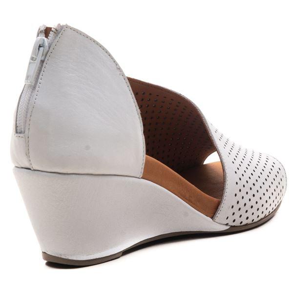 Aurara Kadın Dolgu Topuk Sandalet Beyaz