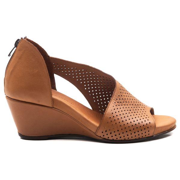 Aurara Kadın Dolgu Topuk Sandalet Taba