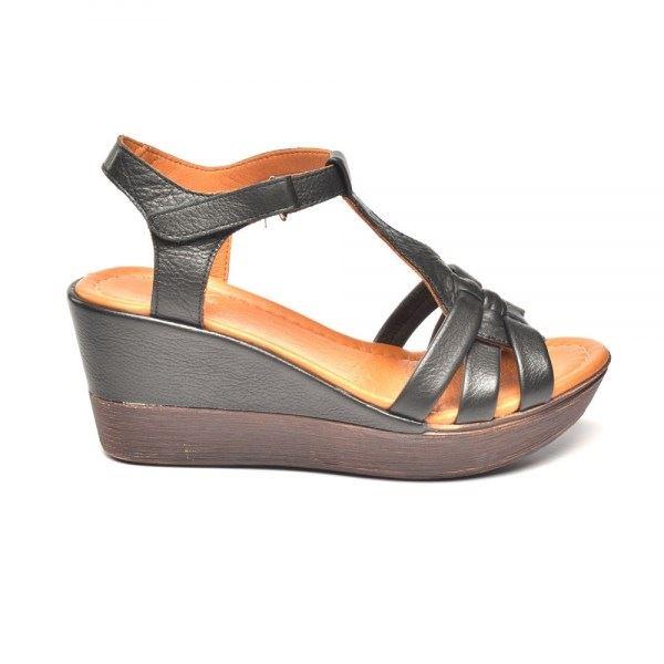 Cerelia Deri Sandalet Siyah