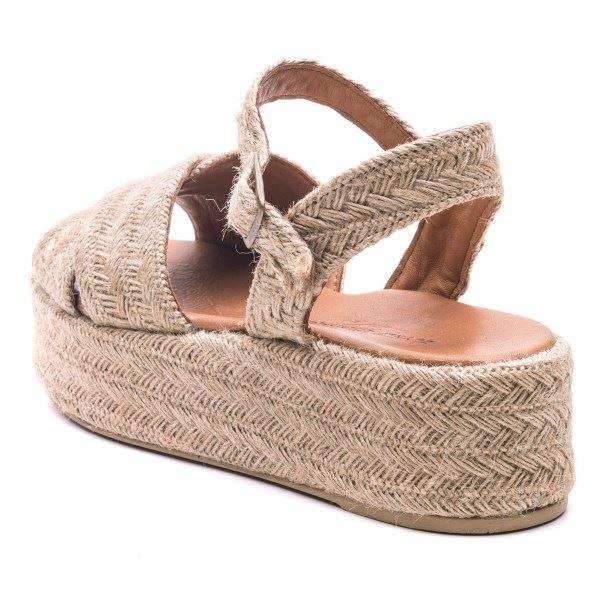 Beatrix Keten Desen Sandalet
