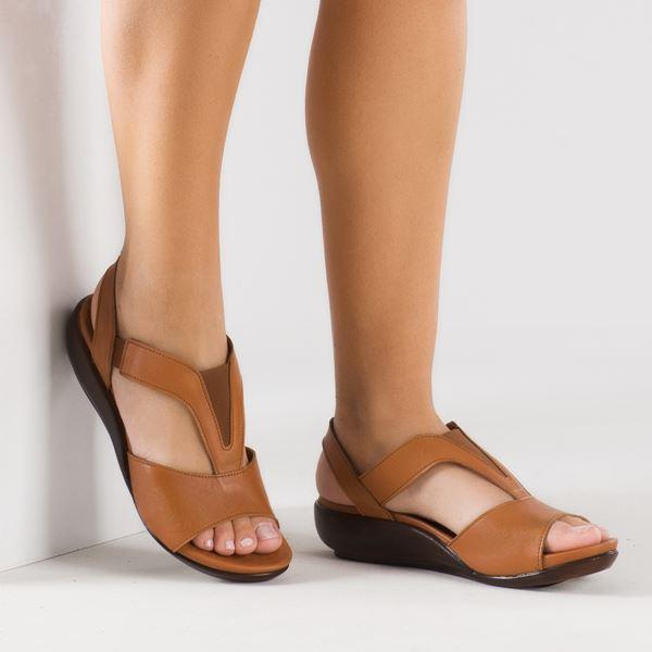 Massima Ortopedik Sandalet Taba