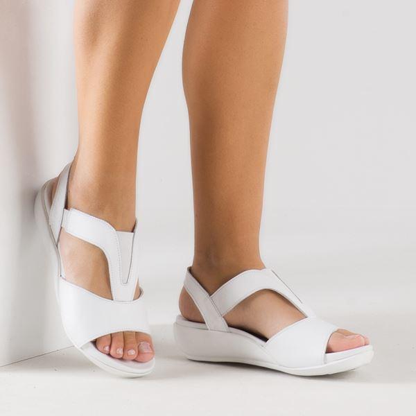 Massima Ortopedik Sandalet Beyaz