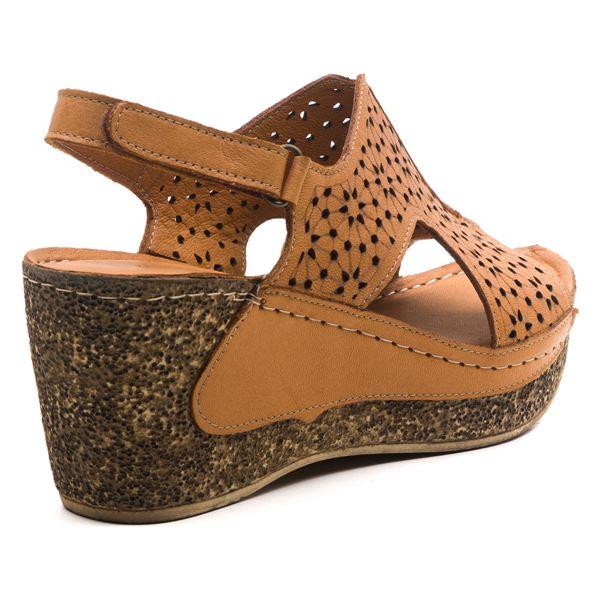 Amelia Kadın Dolgu Topuk Sandalet Taba